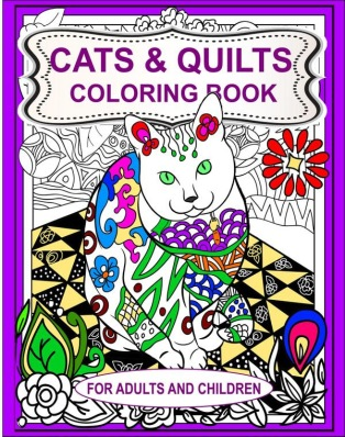 Cats and Quilts Coloring Book