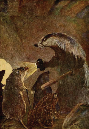 """The Wind in the Willows"" by Paul Bransom - Image:Wind in the Willows (1913).djvu, page 326. Licensed under Public domain via Wikimedia Commons."